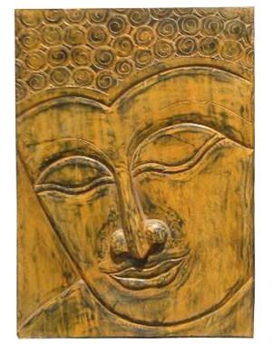 Wood Carved Buddha Pannel HAE06