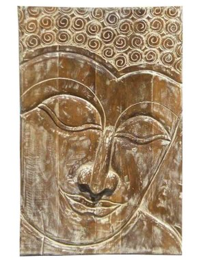 Wood Carved Buddha Pannel HAE09