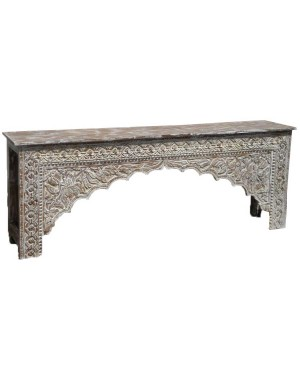 Wood Carved Console Table  HAE12