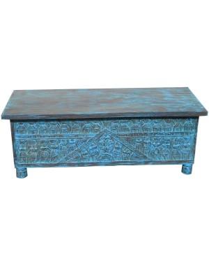 Wood Tribal Carved Box HAE22