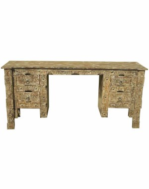 Wood Fine Carved Table Four Drawer HAE45