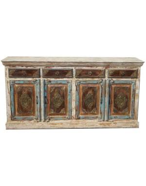 Wood Four Drawer Side Board HAE59