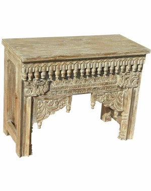 Wood Carved Table Colour Finish HAE70