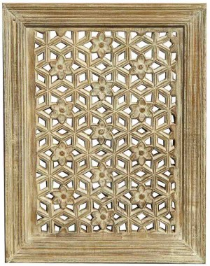 Wood Jali Pannel Colour Finish HAE97