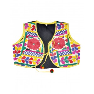 Kutch Qasab White And Yellow Jacket With Dori KQ21