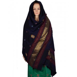 Megha Art & Crafts Woolen Hand Wooven Shawl MAC106