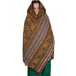 Megha Art & Crafts Woolen Hand Wooven Shawl MAC117