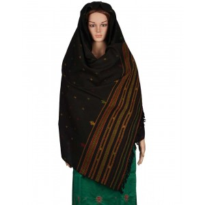 Megha Art & Crafts Woolen Hand Wooven Shawl MAC125