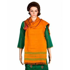 Megha Art & Crafts Woolen Stole With Kutch Embroidery MAC84