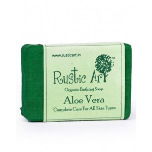 Rustic Art Organic Aloe Vera Soap RA01 (Pack of 2)
