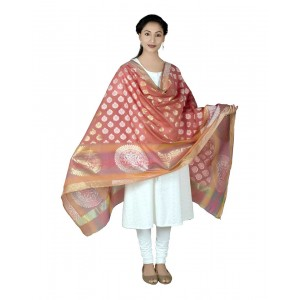 Red Zari Resham Dupatta BB02