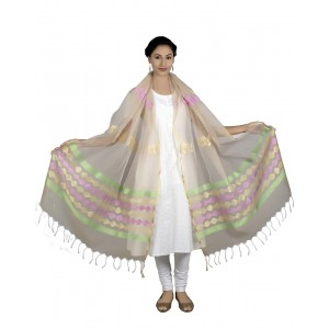 Tassar Colour Dupatta BB05