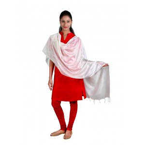 Plain White Dupatta  BB12