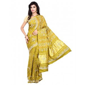 Kala Sanskruti Golden Gajji Silk Saree