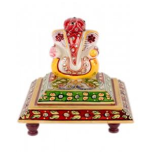 Marble Ganesha Chowki AAG49