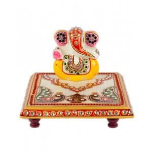 Marble Ganesha Chowki AAG50