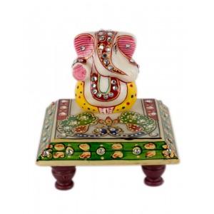 Marble Ganesha Chowki AAG51