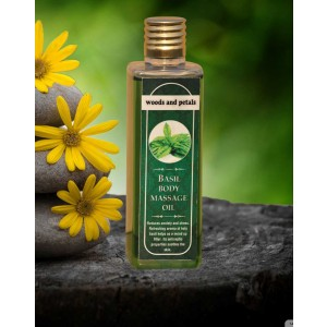 Woods And Petals Basil Body Massage oil WP53