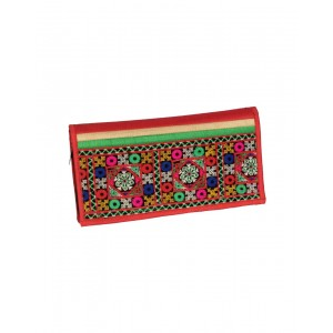 Rakhiyo Art Silk Red Clutch RAK32
