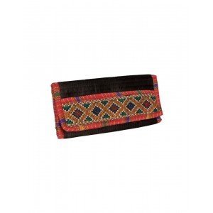 Rakhiyo Art Silk Black Clutch RAK47