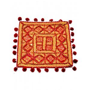Kutch Qasab Five Mirror Cushion Cover KQ59