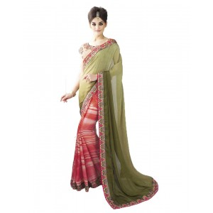 Nayonika Two Toned Trendy Designer Saree 238