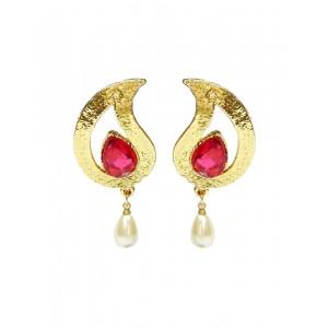 Ishi Collection Metallic Brass Earring IC100