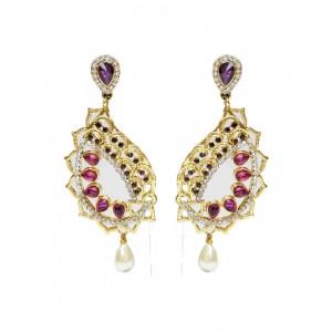 Ishi Collection Metallic Brass Earring IC107