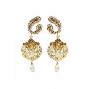 Ishi Collection Metallic Brass Earring IC110