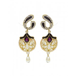 Ishi Collection Metallic Brass Earring IC111