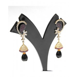 Ishi Collection Metallic Brass Earring IC12