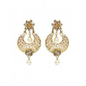 Ishi Collection Metallic Brass Earring IC124