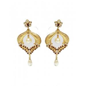 Ishi Collection Metallic Brass Earring IC125