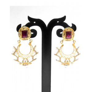 Ishi Collection Metallic Brass Earring IC13