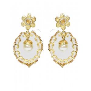 Ishi Collection Metallic Brass Earring IC140