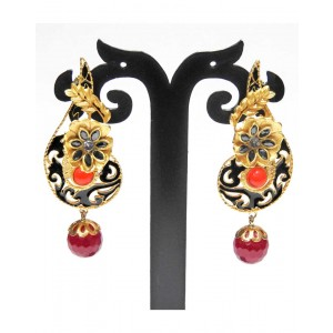 Ishi Collection Metallic Brass Earring IC15