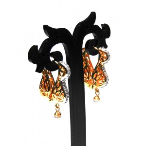 Ishi Collection Metallic Brass Earring IC19