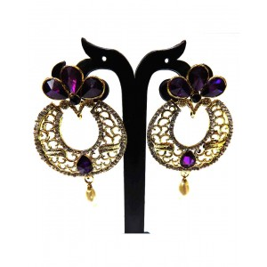 Ishi Collection Metallic Brass Earring IC25