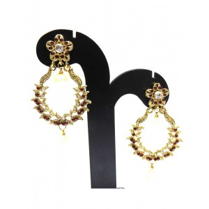 Ishi Collection Metallic Brass Earring IC32