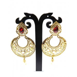 Ishi Collection Metallic Brass Earring IC37