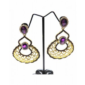 Ishi Collection Metallic Brass Earring IC38