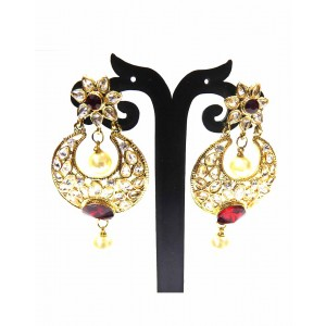 Ishi Collection Metallic Brass Earring IC39