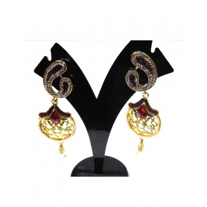 Ishi Collection Metallic Brass Earring IC41