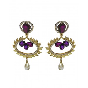 Ishi Collection Metallic Brass Earring IC77