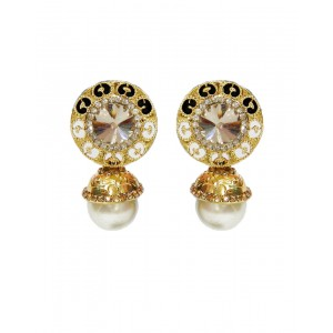 Ishi Collection Metallic Brass Earring IC83