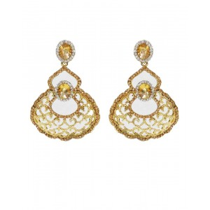 Ishi Collection Metallic Brass Earring IC88
