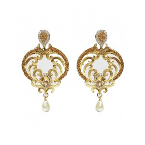 Ishi Collection Metallic Brass Earring IC89