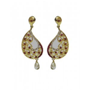 Ishi Collection Metallic Brass Earring IC94