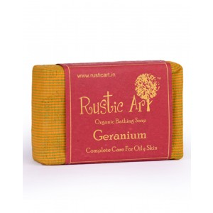 Rustic Art Organic Geranium Soap RA04 (Pack of 2)