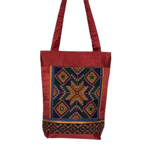Rakhiyo Cotton Satin Jat Work Bag RAK48